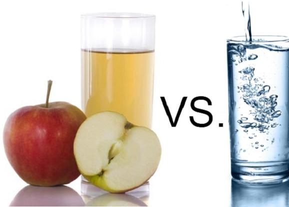 Дать стакан воды или сока