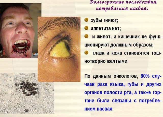 Вред насвая на организм