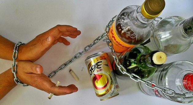 зависимости от разных видов алкогольных напитков