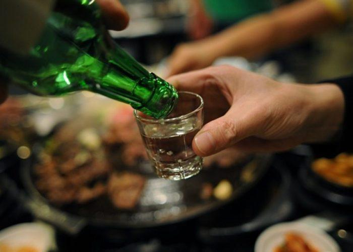 Прием алкогольных напитков