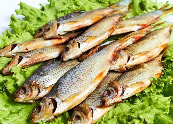 Сушеную рыбу