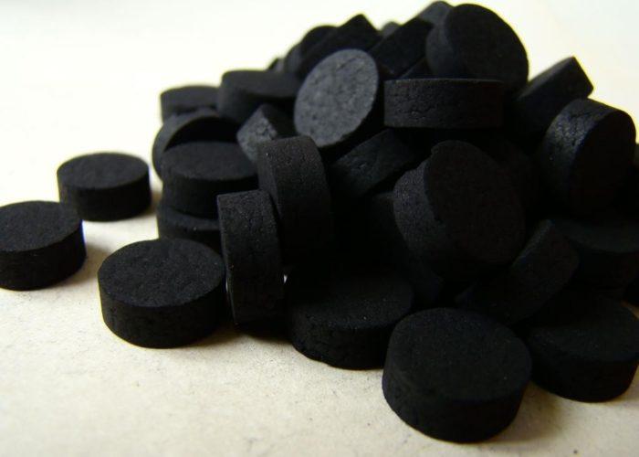 Классический активированный уголь черного цвета