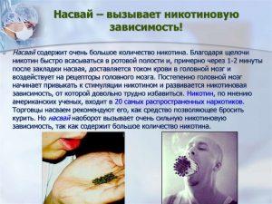 Насвай – вызывает никотиновую зависимость