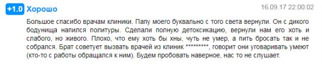 Отзвыв о клиннике Ариадна в Москве - prodoctorov.ru