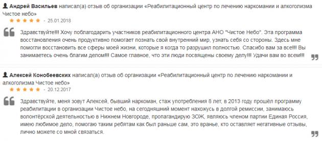 Отзвыв о клиннике Чистое небо в Нижнем Новгороде - nizhnij-novgorod.jsprav.ru