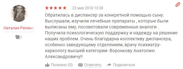 Отзвыв о клиннике Решение в Рязани - yell.ru
