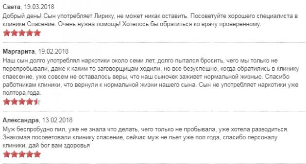 Отзвыв о клиннике Спасение в Москве - наркологические-клиники.рф