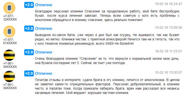 Отзвыв о клиннике Спасение в Москве - prodoctorov.ru