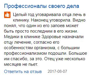 Отзвывы пациентов о клиннике Здоровье в Москве - spr.ru