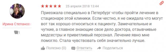 Отзвывы поциентов о клиннике Апрель в Санкт-Петербурге - yell.ru