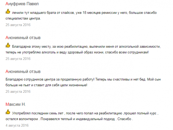 Отзыв о клинике «Наркостоп» в Воронеже - yandex.ua