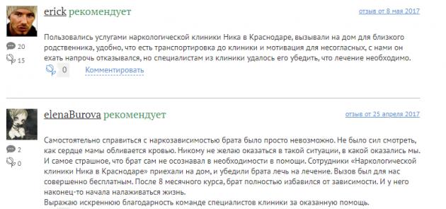 Отзывы о центр Ника в Краснодаре - krasnodar.tulp.ru