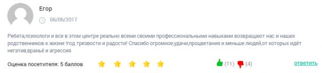 Отзывы о центр Здоровая жизнь Москва - clinic-top.ru