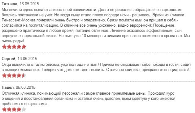 Отзывы о центре Ренессанс в Москве - наркологические-клиники.рф