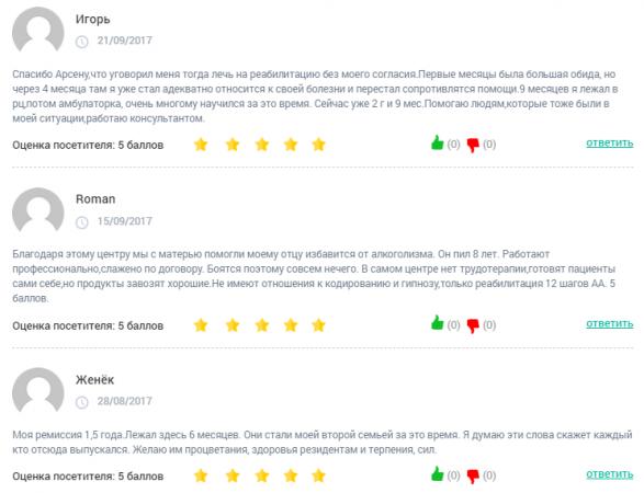 Отзывы о центре Согласие в Краснодаре - clinic-top.ru