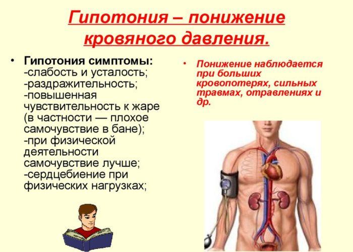 При гипотонии