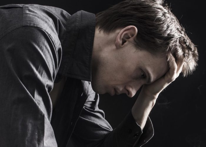 При отсутствии выпивки он впадает в депрессию