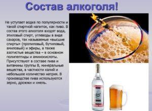 Состав алкоголя