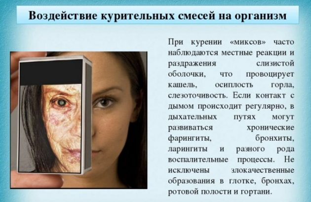 Воздействие курителных смесей на организм