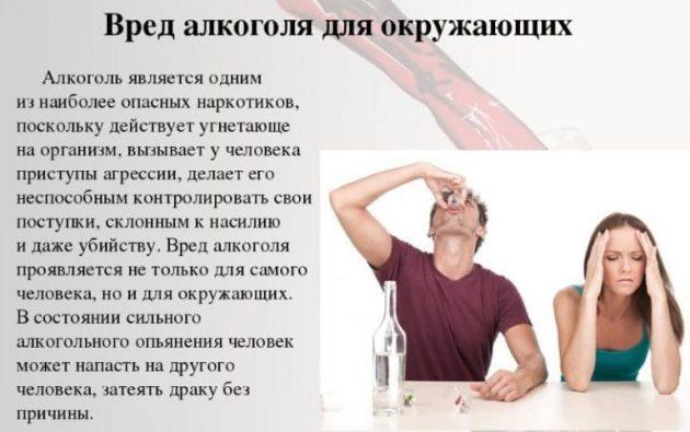 Вред алкоголя для окружающих