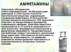 Характеристика амфетамина