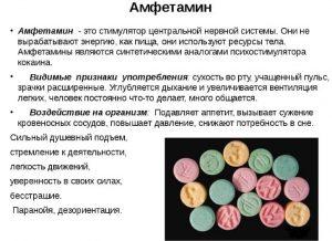 Харктеристиика амфетамина