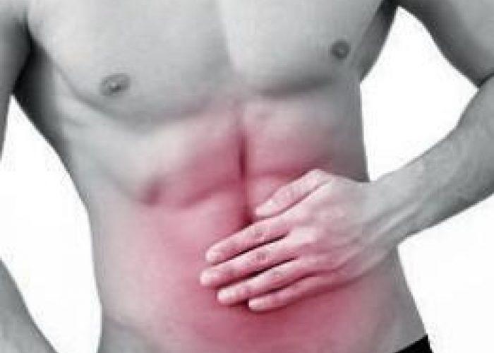 Интенсивными опоясывающими болями в брюшной полости