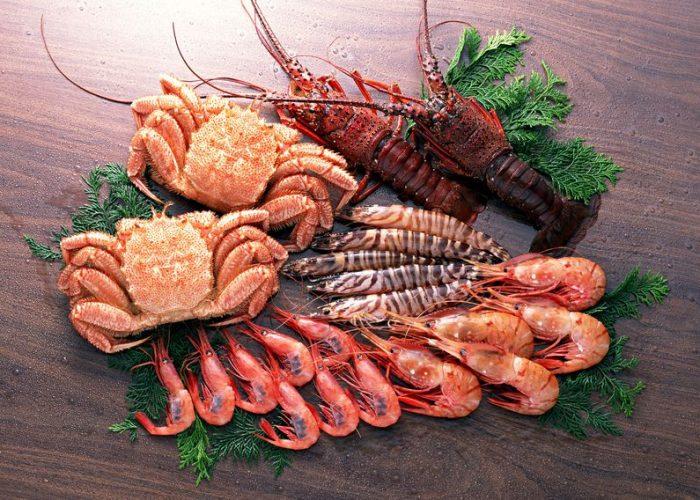 Крабы и прочие разновидности морепродуктов