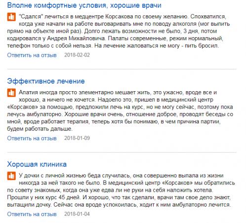Отзвыв о клинике имени Корсакова в Москве - www.spr.ru