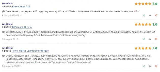 Отзвыв о клиннике Наркологической клинике № 1 в Самаре - doctu.ru