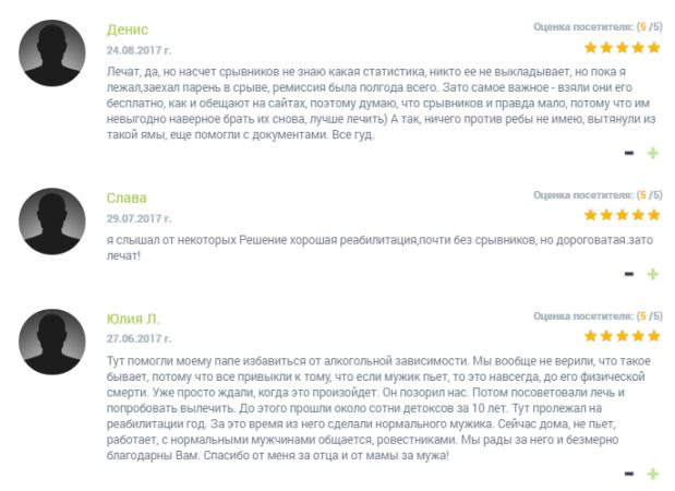 Отзывы о клинике «Решение» в Оренбурге - narko-kliniki.ru