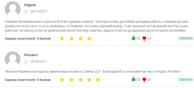 Отзывы о клинике «Решение» в Орле - clinic-top.ru