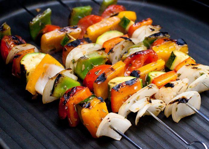 Овощи, запеченные на огне