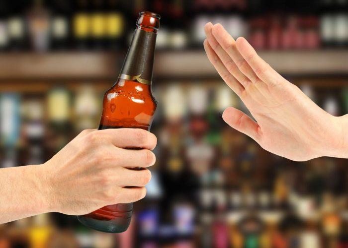 Полностью отказаться от употребления спиртных напитков