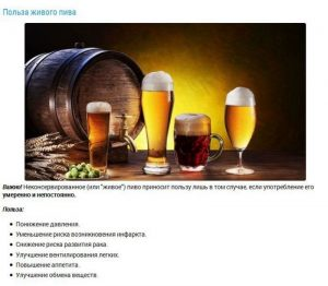 Польза от «живого пива»