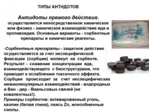 Препараты-антидоты