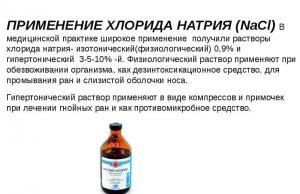 Применение Натрия хлорида в медицине