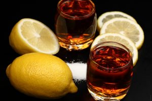 Сочетание коньяка и лимона