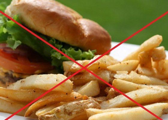 Запрет на жирные продукты