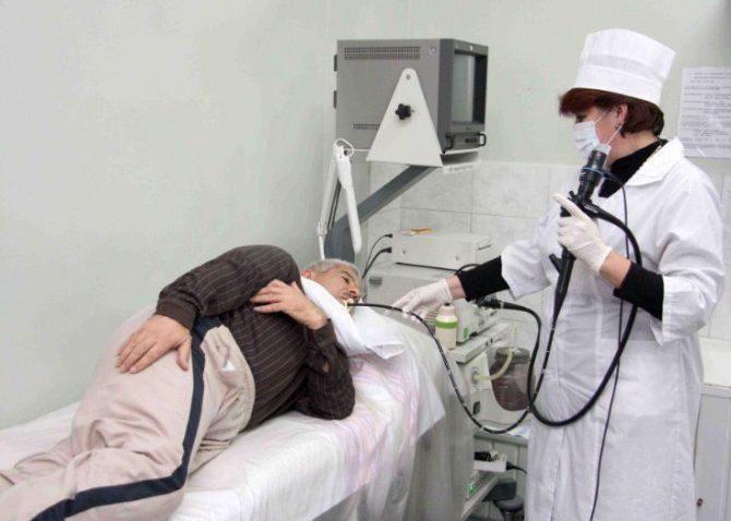 Зондирование желудка