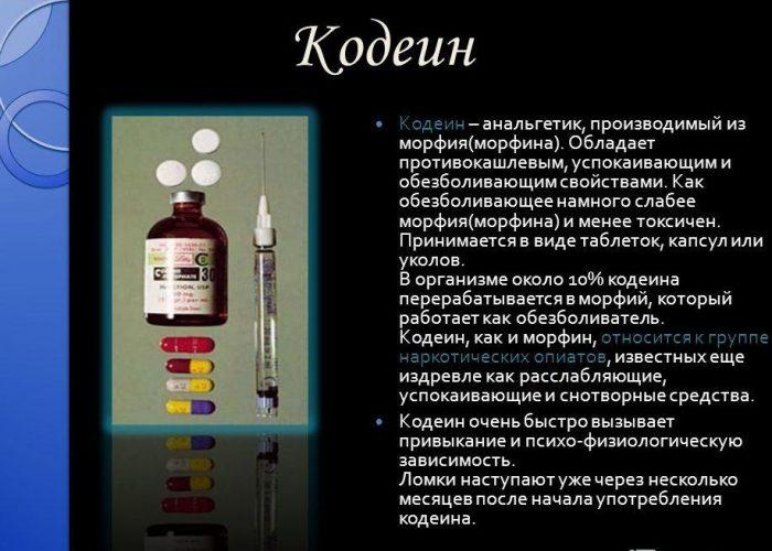 Кодеин – 20