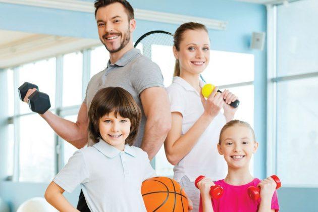 Семейное занятие спортом