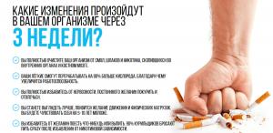 Изменения в организме после отказа от курения