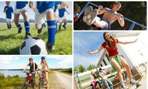 Занятия активными видами спорта