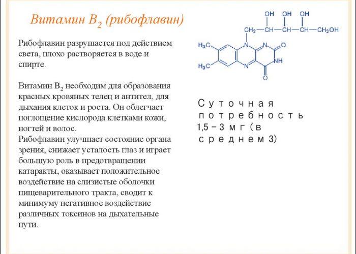 B2 или рибофлавин