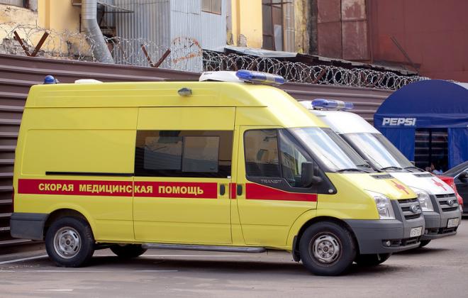 Бригада скорой поомщи в клинике Наркологической помощи №1