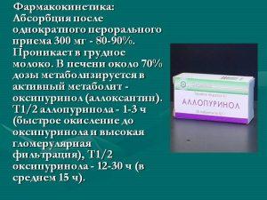 Фармакокинетика Аллопуринола