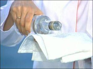 Обтирание водкой с перцем