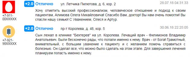 Отзывы о центр Бехтерев в Санкт-Петербурге