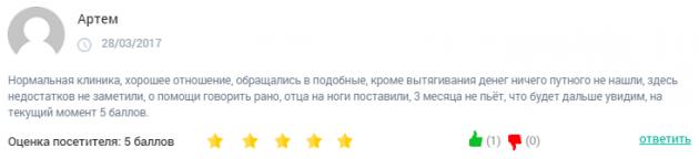 Отзывы о центр Наркопроф Москва – clinic-top.ru